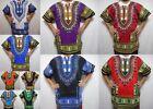 Dashiki Caftan Shirt Tribal African Women Rasta Hippie Blouse Top Men M L XL One