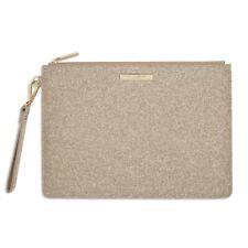 Katie Loxton Stardust Large Clutch Bag Sparkly Champagne Handbag Pouch