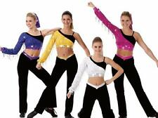 Victory Dance Costume SILVER Sequin Cheerleader Ice Skating Baton Clearance