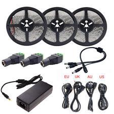 LED Strip Light SMD 2835 5M 10M 15M Waterproof LED Tape 12V Ribbon + Adapter Kit