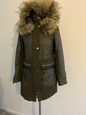 New With Tags Women's River Island Size 8 Khaki Parka Coat.RRP£115