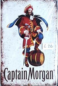 Captain Morgan Metal Tin Signs Bar Shed & Man Cave Signs AU Seller
