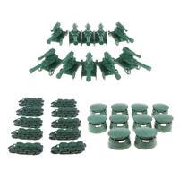 30pcs Plastic Battlefield Shelters Bunkers Artillery Army Men Soldiers ACCS