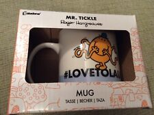BNIB New Paladone Boxed Mr Men & Little Misses Ceramic Mug - Mr Tickle