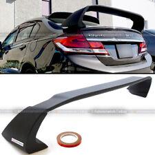 Fits 12 15 Honda Civic 4dr Sedan Unpainted Mugen Style Rr Trunk Wing Spoiler Fits 2013 Honda Civic Si