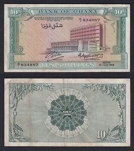 Ghana 10 shillings 1958 BB/VF Pick-1a  A-10