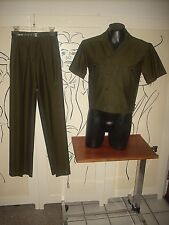 Men'S Designer Tailored Vtg Green & Black Sharkskin Casual Walking Suit 27""