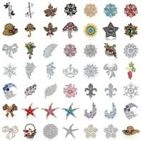 Flower Rhinestone Brooch Pin Women's Wedding Bridal Bouquet Crystal Jewelry Lot