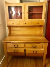 ANTIQUE MAPLE POSSUM BELLY BAKER'S CABINET