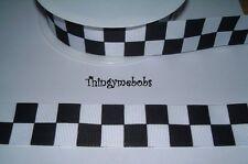 1 M x 25 mm nero/bianco/a scacchi bandiera a scacchi/Auto da Corsa/nastro della polizia-TORTE
