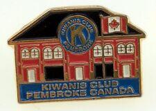 Kiwanis Club Pembroke Canada Pin Lapel Tie Building Ontario