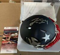 Jarrett Stidham Autographed Signed Mini AMP New England Patriots Helmet JSA