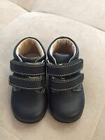 New Umi Sam Boy's Booties Shoes Size 18 Or 3.5 US Blue Soft Leather