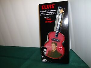 Elvis Illuminated Christmas Ornament Guitar That's All Right