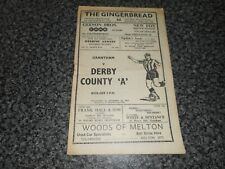 More details for grantham   v  derby county ' a '  1959/60 ~ april 16th rare  *****free post*****