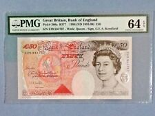 Great Britain 50 Pounds P-388-A 1994 ND(1993-98)  PMG 64 EPQ