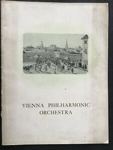 VIENNA PHILHARMONIC ORCHESTRA / W. Furtwängler 1949 Royal Albert Hall Programme