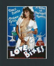 TRACI LORDS ADULT FETISH PORN ORIGINAL HAND SIGNED MOUNTED AUTOGRAPH PHOTO & COA