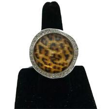 Brighton TRINITY Leopard  Ring Size 8  Swarovski Crystals J60733  NWT