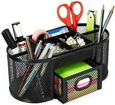 Mesh Desk Organizer with 9 Compartments + Drawer