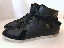 BURBERRY Herren Schuhe Sportschuhe Schwarz 46 Leder High Top Sneakers Black 12
