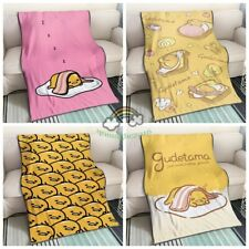 Gudetama  Fleece Blend Blanket Sofa Bed Quilt Micro Plush Soft Throws Rug New