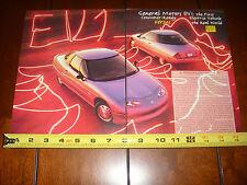1997 GENERAL MOTORS EV1 ELECTRIC VEHICLE - ORIGINAL ARTICLE