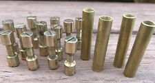 Knife Making Brass Hardware 12 Solid Brass Corby Rivets 4 Brass Lanyard Tubes