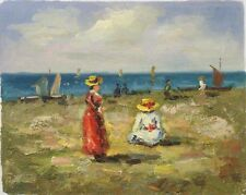 Play at the Beach (Oil on Canvas)