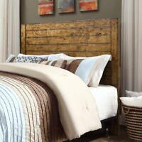Headboard Full Queen Size Bed Rustic Farmhouse Solid Wood Headboards Plank-Style
