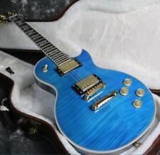 Custom Shop LP Electric Guitar Supreme Electric Guitar Figured Maple Blue Color