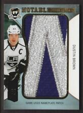 "2012-13 The Cup Notable NAMEPLATE PATCH Letter ""W?"" #NN-DU Dustin Brown 4/5"