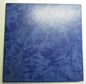 """Villeroy Boch Germany 2003 Satin Marbled Dark Blue 11-3/4"""" Porcelain 1Floor Tile"""