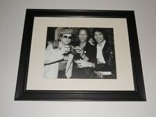 "Framed Elton John, Freddie Mercury (Queen), Peter Straker 1978 Party 14""x17"""