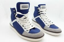 New Emporio Armani Men EA Fashion Sneaker Boots White Blue Shoes Size 5.5 $395