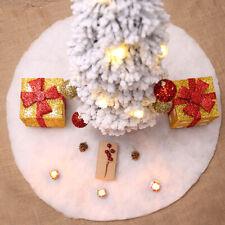White Plush Christmas Tree Skirt Carpet Merry Christmas Decor New Year DecorAZJA