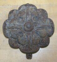 Antique Cast Iron Flower Medallion Architectural Salvage Hardware Element A
