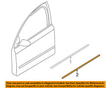AUDI OEM 02-05 A4 Quattro Front Door-Lower Molding Trim Left 8E08539597DL