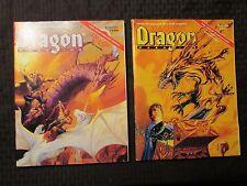 1991 DRAGON Magazine #170 FN+ 171 FVF 172 FN 174 FN+ LOT of 4 D&D AD&D TSR
