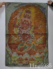 "36""Tibet Buddhism Big Morality King Kong Evil spirits Statue thangkas tangka"