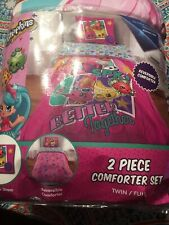 Shopkins Better Together 2 Piece Twin/Full Comforter and Sham Set Reversible