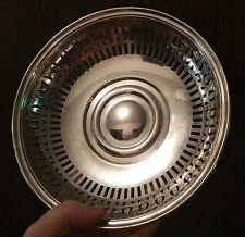 "1862 CHRISTOFLE ~ 8.75"" bread basket silverplate lattice silver french vtg bowl"