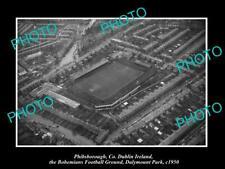 OLD POSTCARD SIZE PHOTO PHIBSBOROUGH DUBLIN IRELAND, BOHEMIANS FOOTBALL c1950