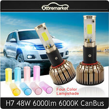 Car COB Canbus H7 LED Headlight Kit 6000K White Bulbs DRL Beam 48W Driving Lamp