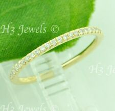 14k solid Yellow gold diamond band ring. 0.20 ct VS quality size 6.5 stackable