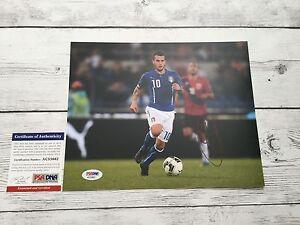 Sebastian Giovinco Signed Italy Italia 8x10 Photo PSA/DNA COA Autographed c