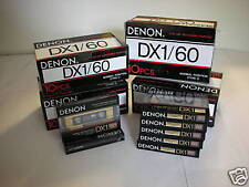 50 Denon Audio Cassette Tape Lot  New Made in Japan