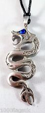 """Snake Dragon Pewter with """"Stone"""" Pendant p781 *"""