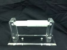 Clear Acrylic Wall Mount Toilet  Paper Holder With Square Beveled Ends