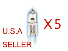 5 Bulbs 12V Volt 20W 20 Watt Type JC Base G4 Halogen Light Bulbs Clear Bi-Pin